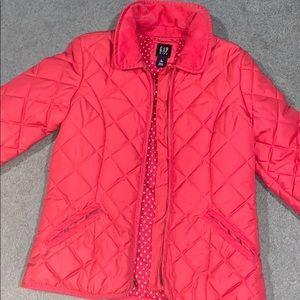 Girls pink winter jacket